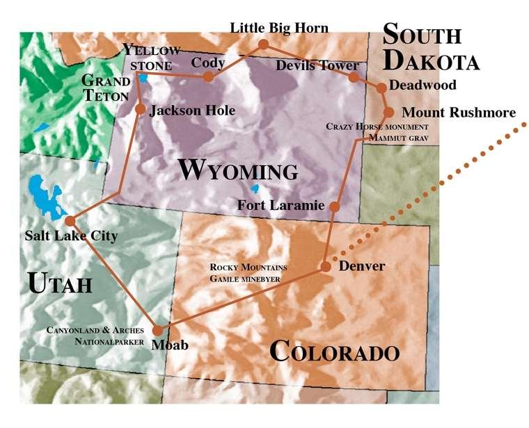 2017 September Usa Nybyggernes Land Fra Denver Til Deadwood